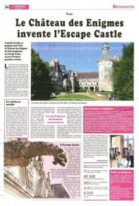 Article sur la création d'un Escape Game dans un château Monument Historique